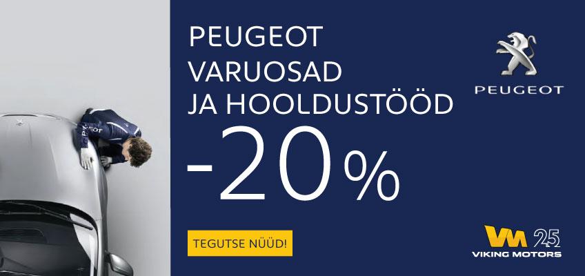 HOOLDUSTÖÖD JA VARUOSAD -20%